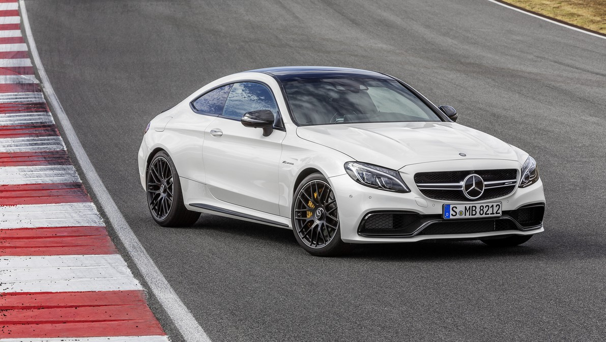 2016 mercedes amg c63 coupe unveiled with biturbo v8. Black Bedroom Furniture Sets. Home Design Ideas