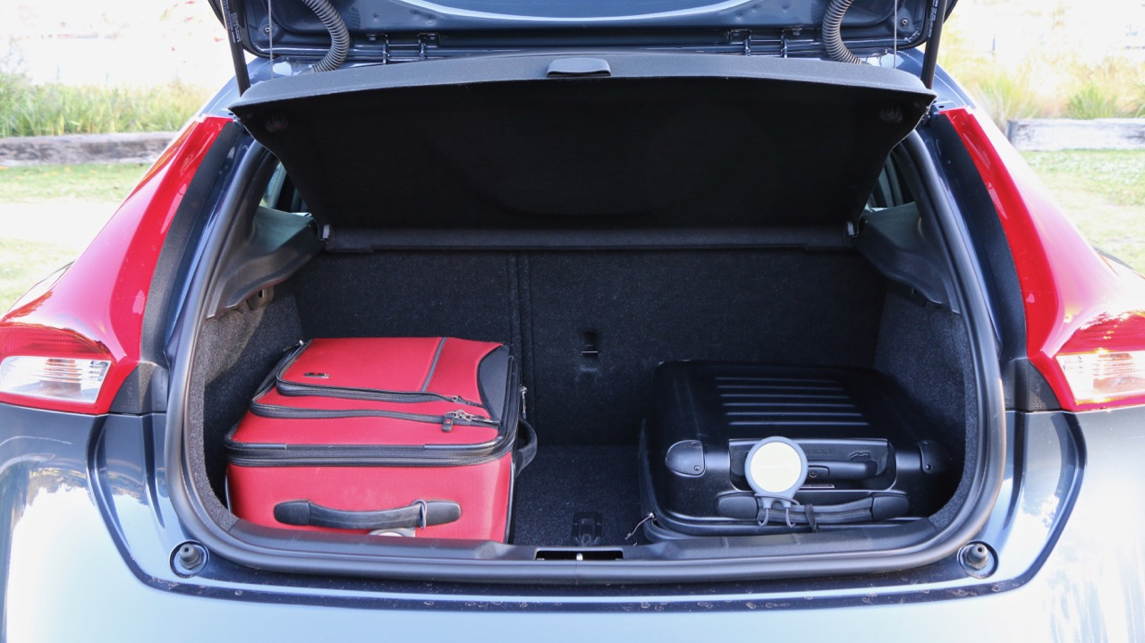 The boot of a 2017 Volvo V40