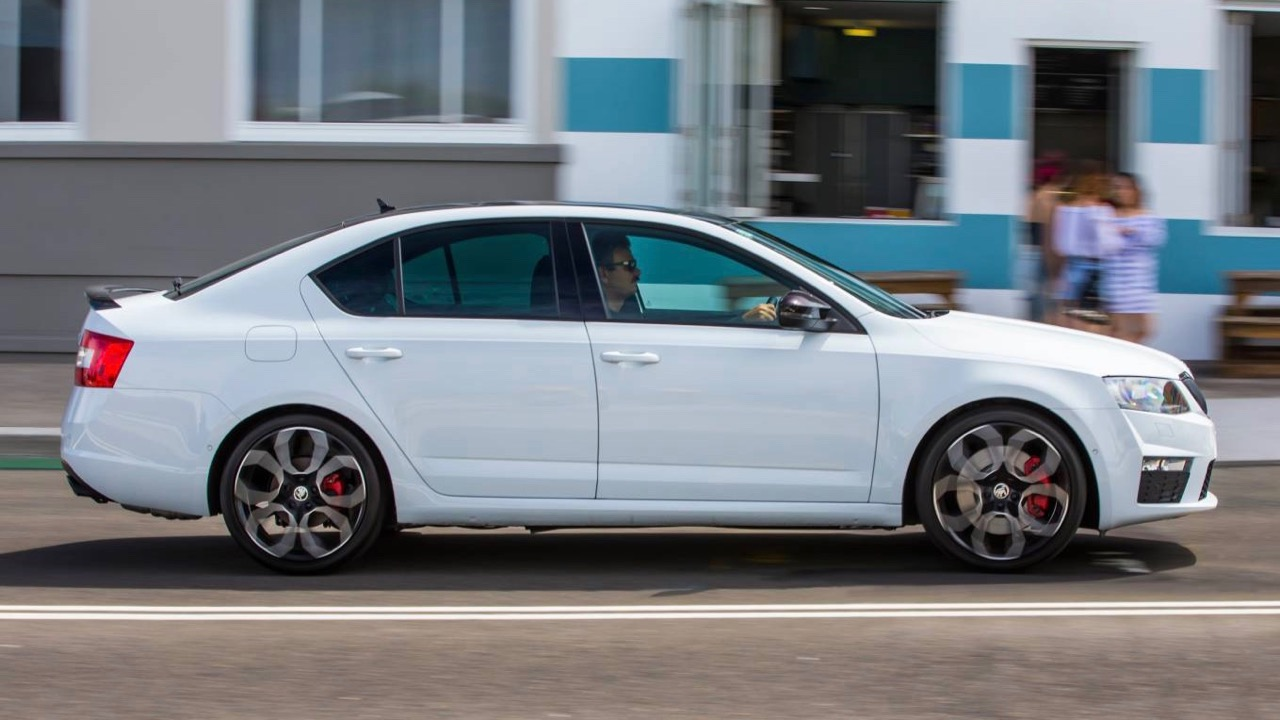 2017 Skoda Octavia RS230 Sedan in motion
