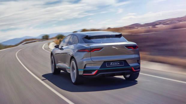 2019 Jaguar I-Pace rear end –Chasing Cars