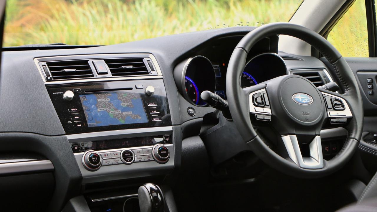 2017 Subaru Outback Premium black leather interior – Chasing Cars
