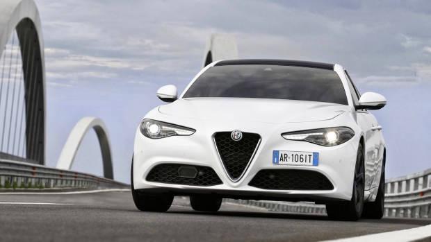 2017 Alfa Romeo Giulia white front