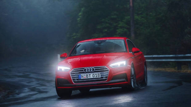 2017 Audi A5 red front