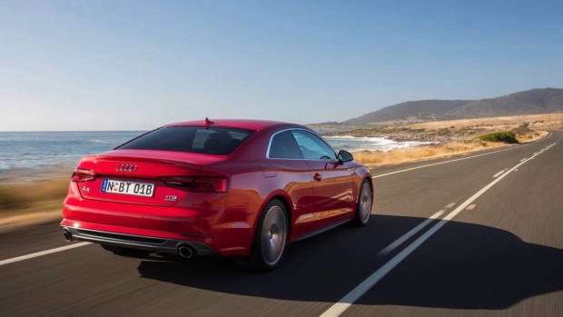2017 Audi A5 red rear
