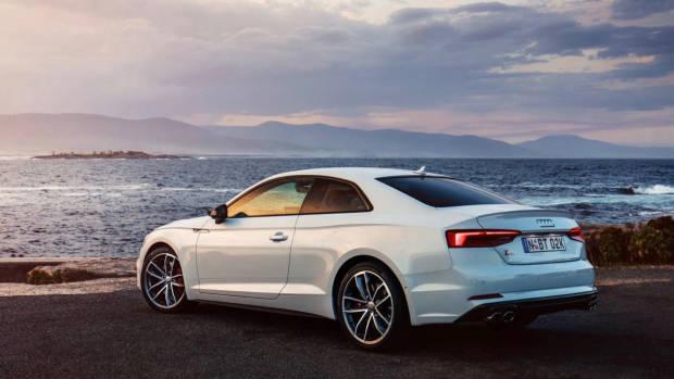 2017 Audi S5 white rear