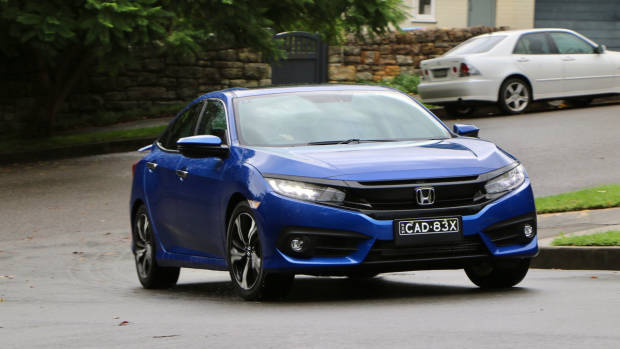 2017 Honda Civic RS Brilliant Sporty Blue Driving