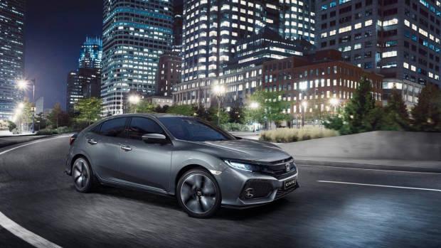 2017 Honda Civic hatchback grey front left