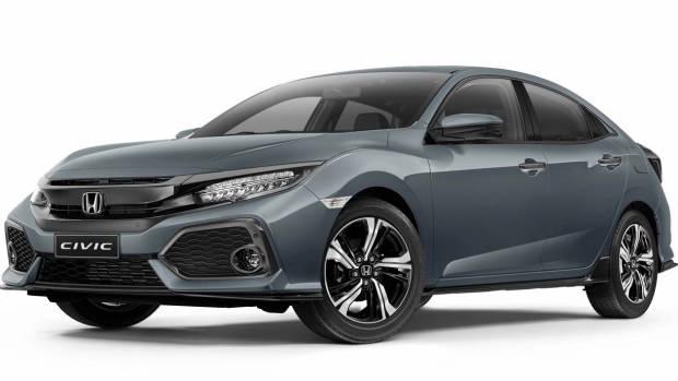 2017 Honda Civic hatchback grey front