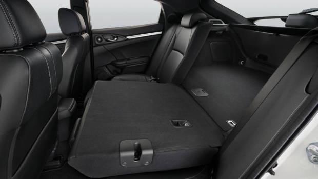 2017 Honda Civic hatchback interior rear seats folded