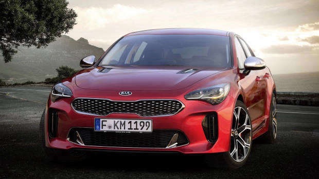 2017 Kia Stinger GT red front