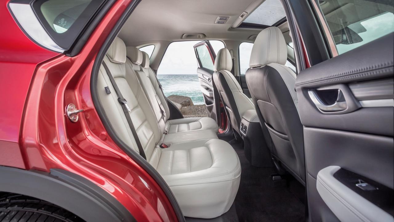 2017 Mazda CX-5 Akera White Leather Back Seat