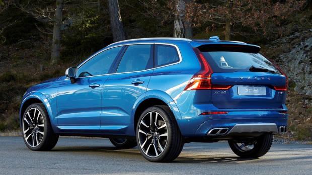 2017 Volvo XC60 blue rear