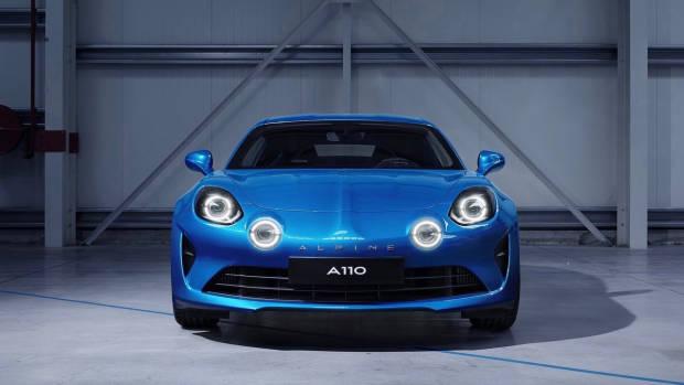 2018 Alpine A110 blue front