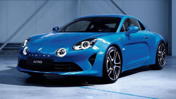 2018 Alpine A110 blue front