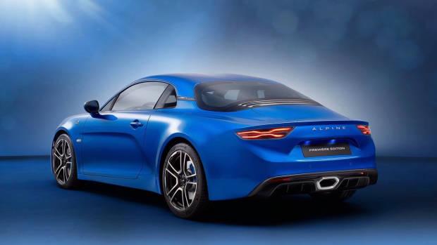 2018 Alpine A110 blue rear