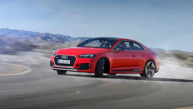 2018 Audi RS5 Coupe red front drift