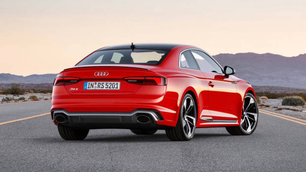 2018 Audi RS5 Coupe red rear