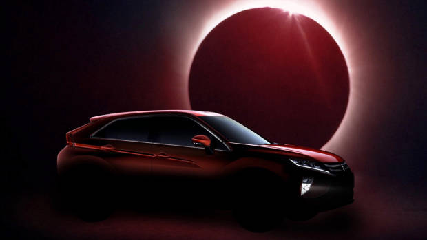2018 Mitsubishi Eclipse Cross red side teaser