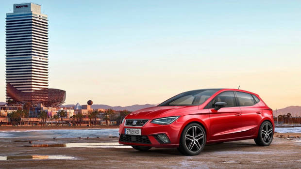 2018 SEAT Ibiza red front