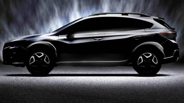 2018 Subaru XV black side teaser