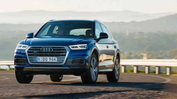 2017 Audi Q5 blue front right