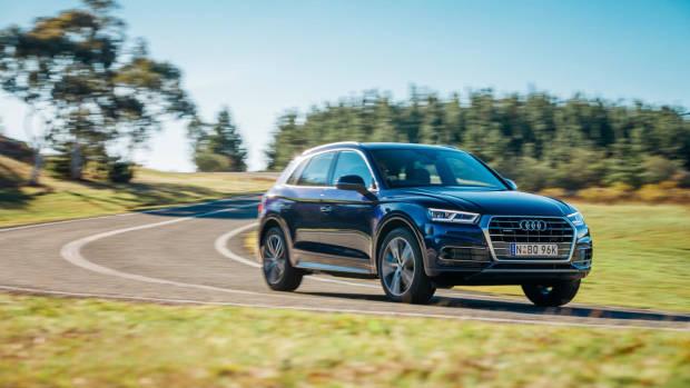 2017 Audi Q5 blue front side