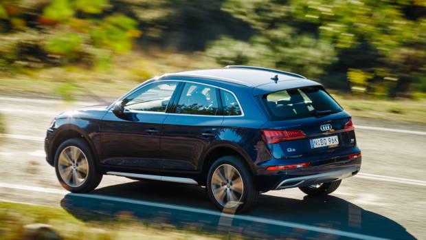 2017 Audi Q5 blue rear side