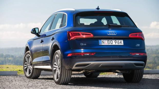 2017 Audi Q5 blue rear
