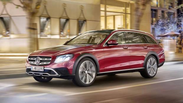 2017 Mercedes-Benz E-Class All Terrain red front night