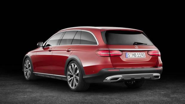 2017 Mercedes-Benz E-Class All Terrain red rear