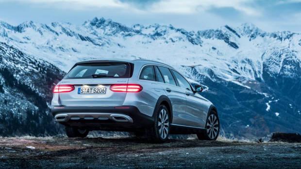 2017 Mercedes-Benz E-Class All Terrain silver rear