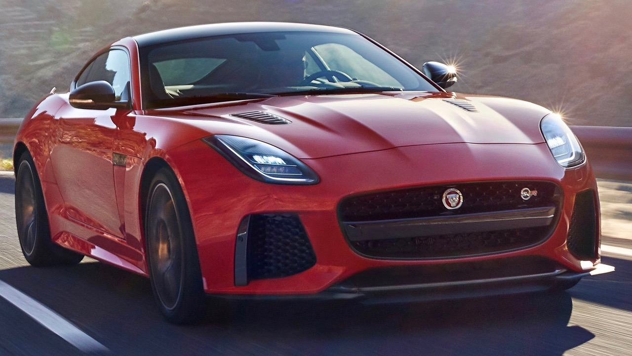 2018 Jaguar F-Type red front close