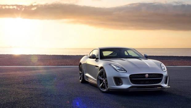 2018 Jaguar F-Type silver front