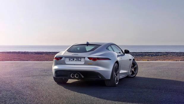 2018 Jaguar F-Type silver rear