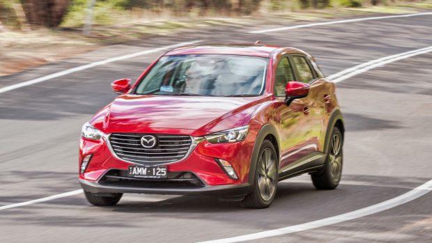 2017 Mazda CX-3 Akari Soul Red Driving