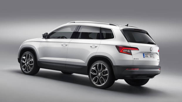 2018 Skoda Karoq white rear