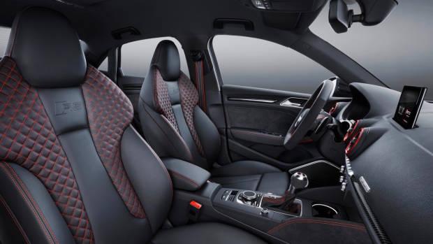2017 Audi RS3 sedan seats