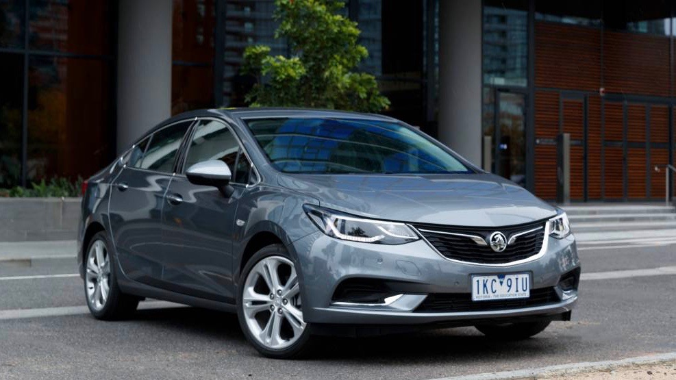 2017 Holden Astra sedan grey front