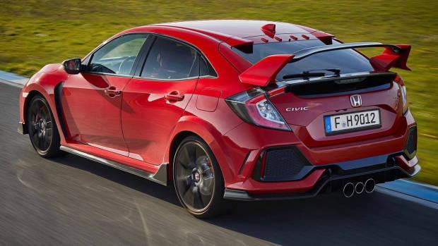2017 Honda Civic Type R red rear