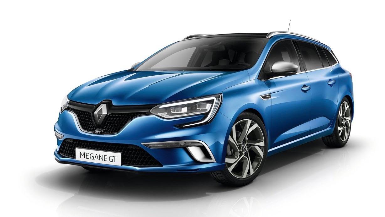 2017 Renault Megane GT wagon blue front