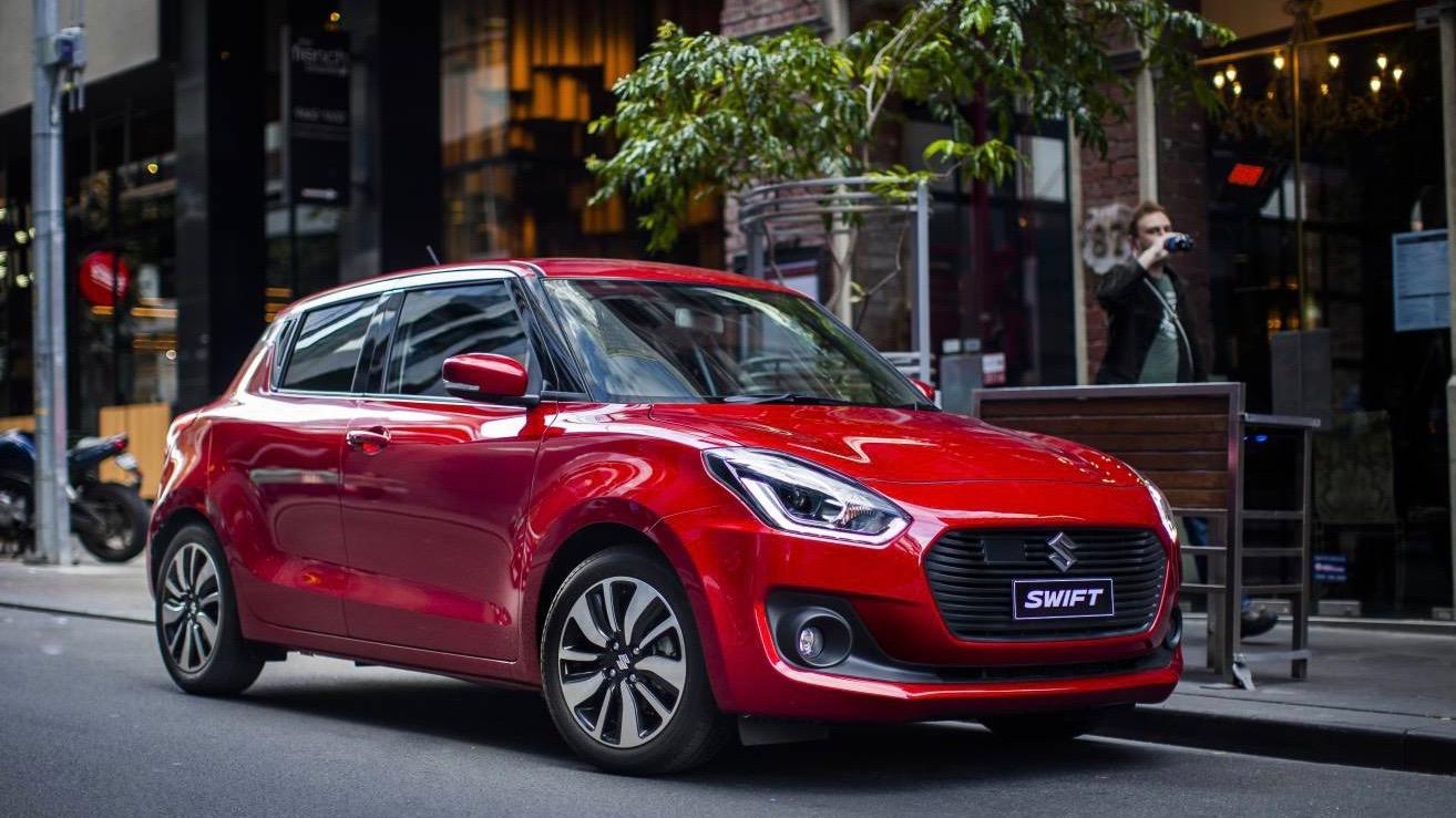 2017 Suzuki Swift GLX red front header