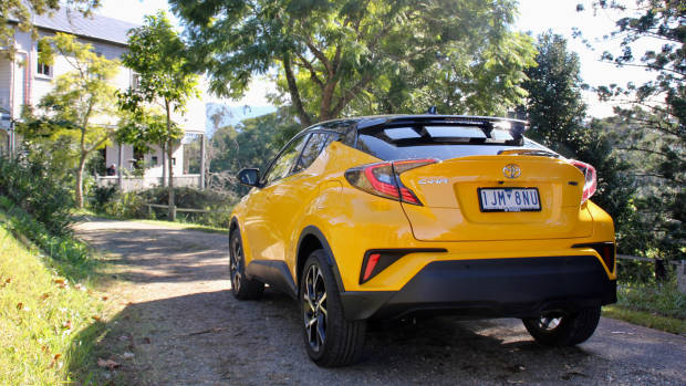 2017 Toyota C-HR Koba yellow rear