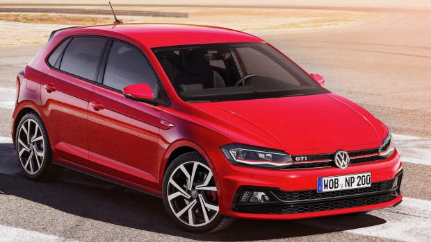 2018 Volkswagen Polo GTI red front