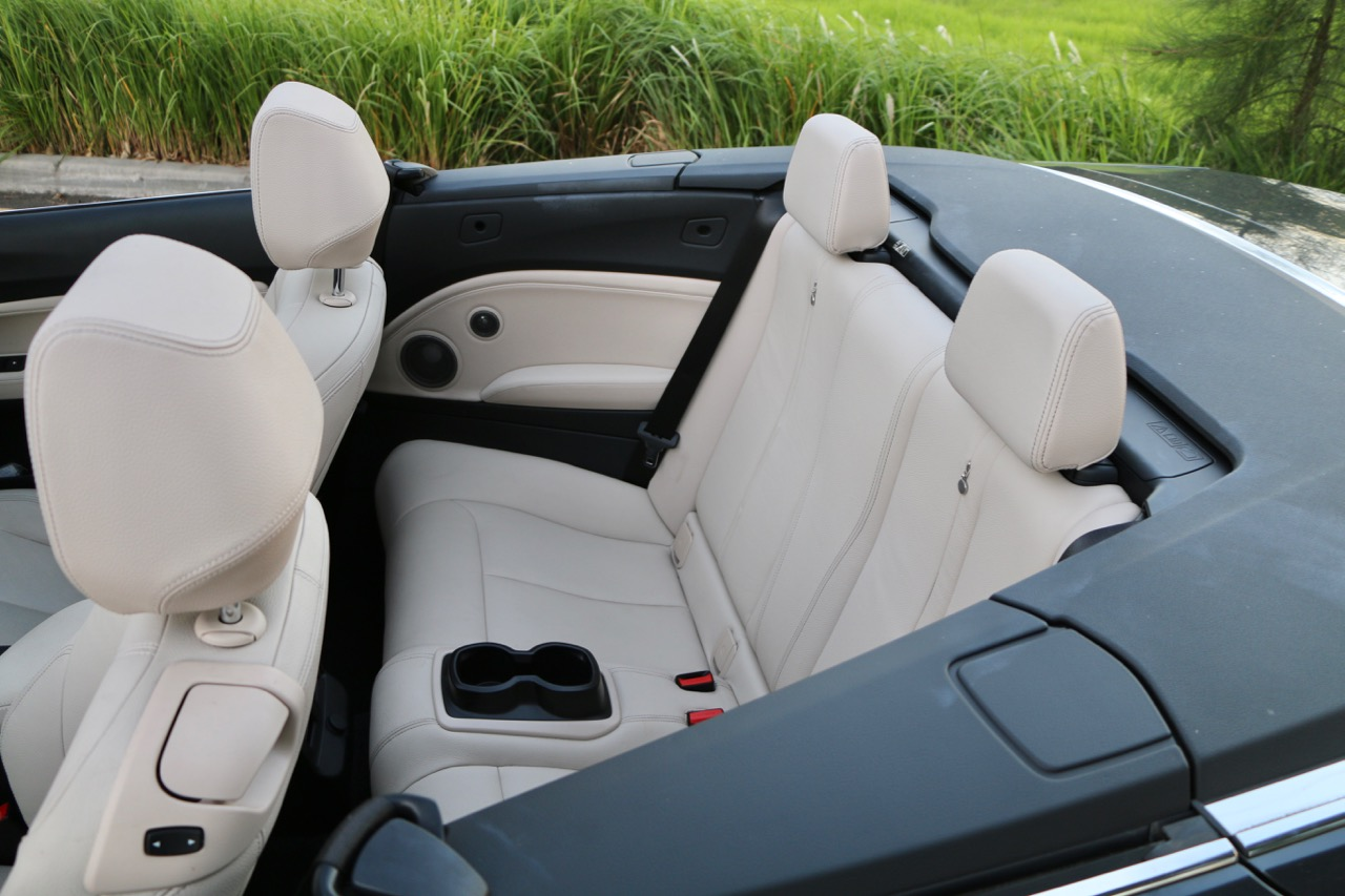 2017 BMW M240i Convertible Back Seat