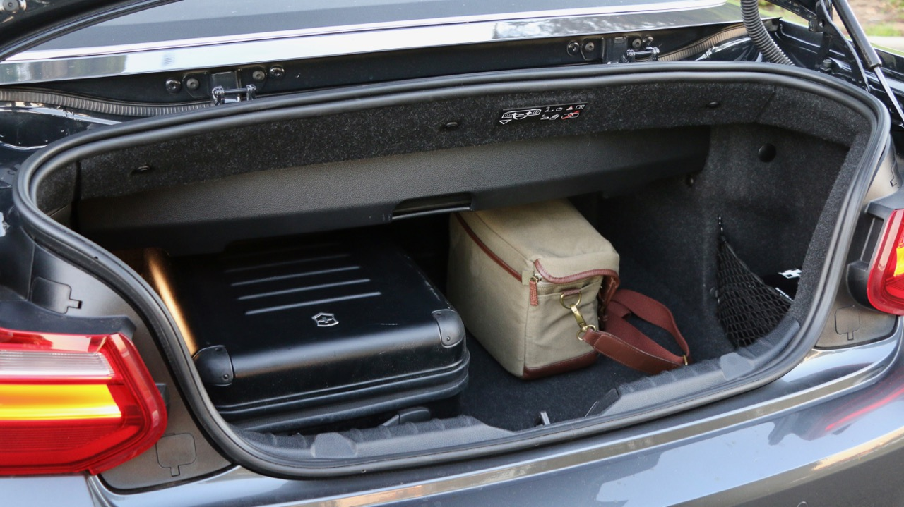 2017 BMW M240i Convertible Boot Space