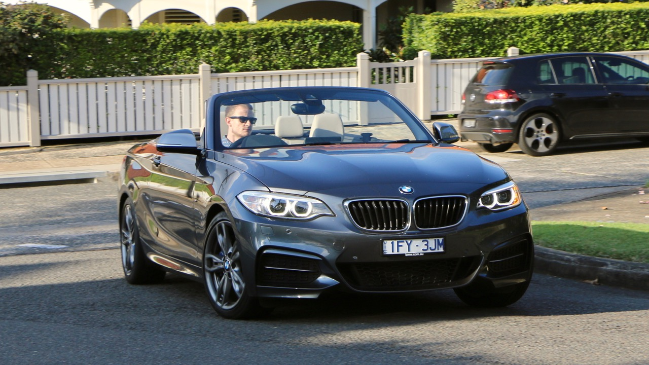 2017 BMW M240i Convertible Mineral Grey Driving