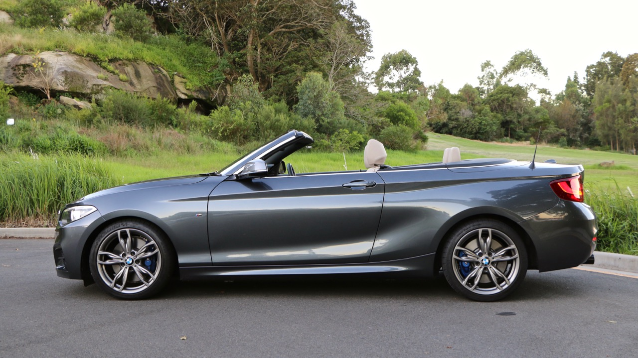 2017 BMW M240i Convertible Mineral Grey Side Profile