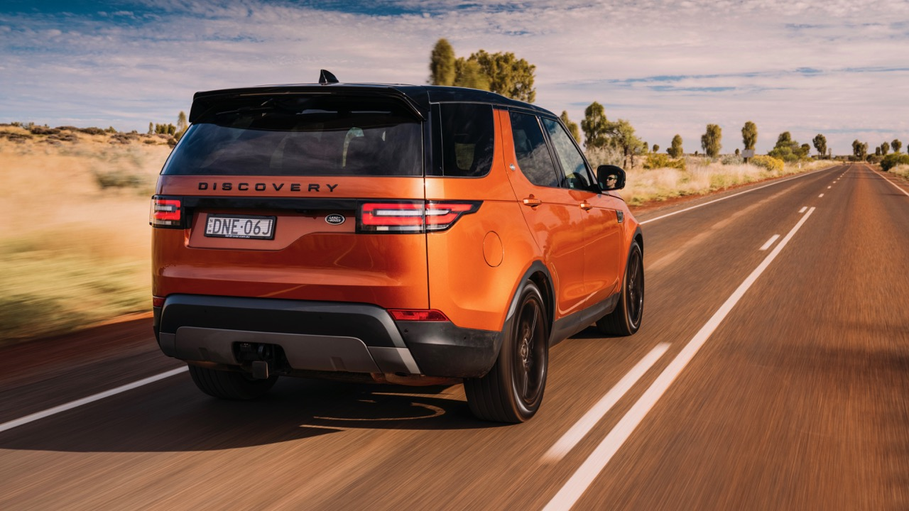 2017 Land Rover Discovery First Edition Namib Orange Rear End –Chasing Cars