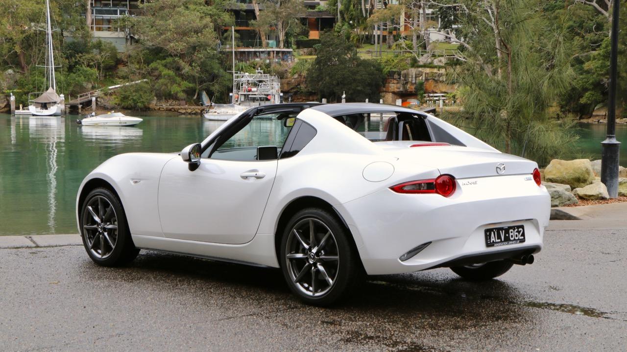 2017 Mazda MX-5 RF 2.0 GT Crystal White Pearl Rear End