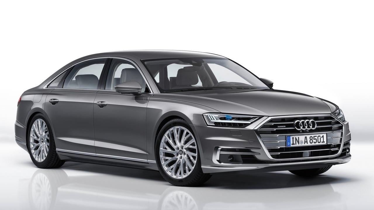 2018 Audi A8L grey front studio